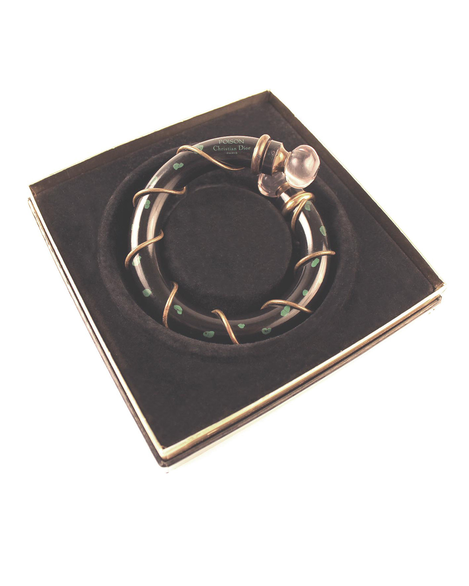Vintage Christian Dior Poison Perfume Flask Bracelet