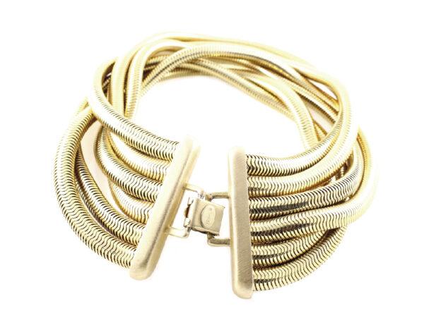 vintage 80s Debra Yohai goose neck necklace & bracelet