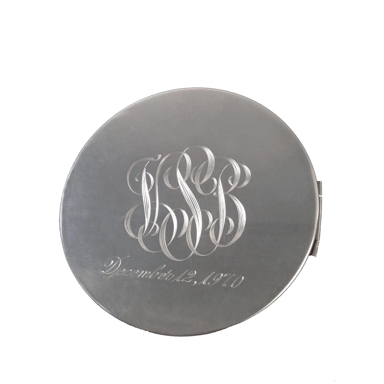 Vintage Gorham Sterling Silver Repousse Floral Monogrammed