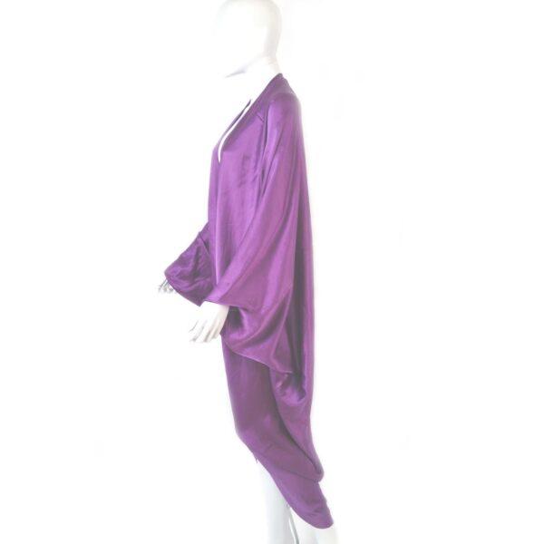 Stephen Burrows World purple lavender vintage cape
