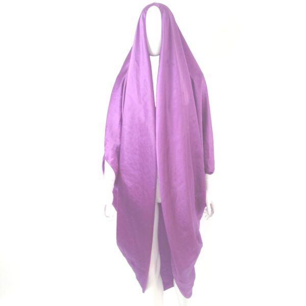 Stephen Burrows World purple silk satin cape