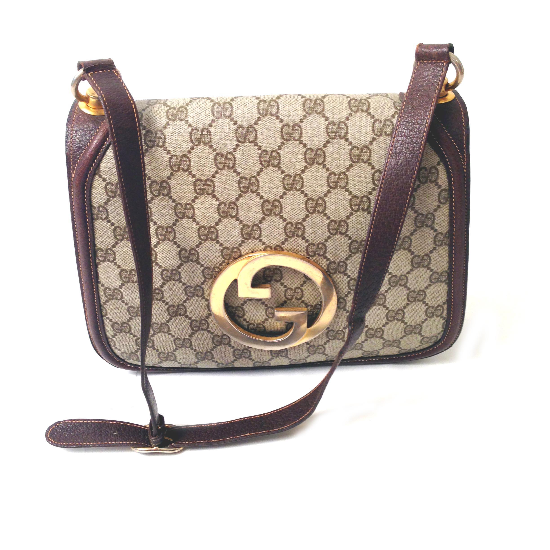 a5945d2507 Vintage Gucci Blondie Monogrammed Shoulder Bag 1970s Purse - Einna ...