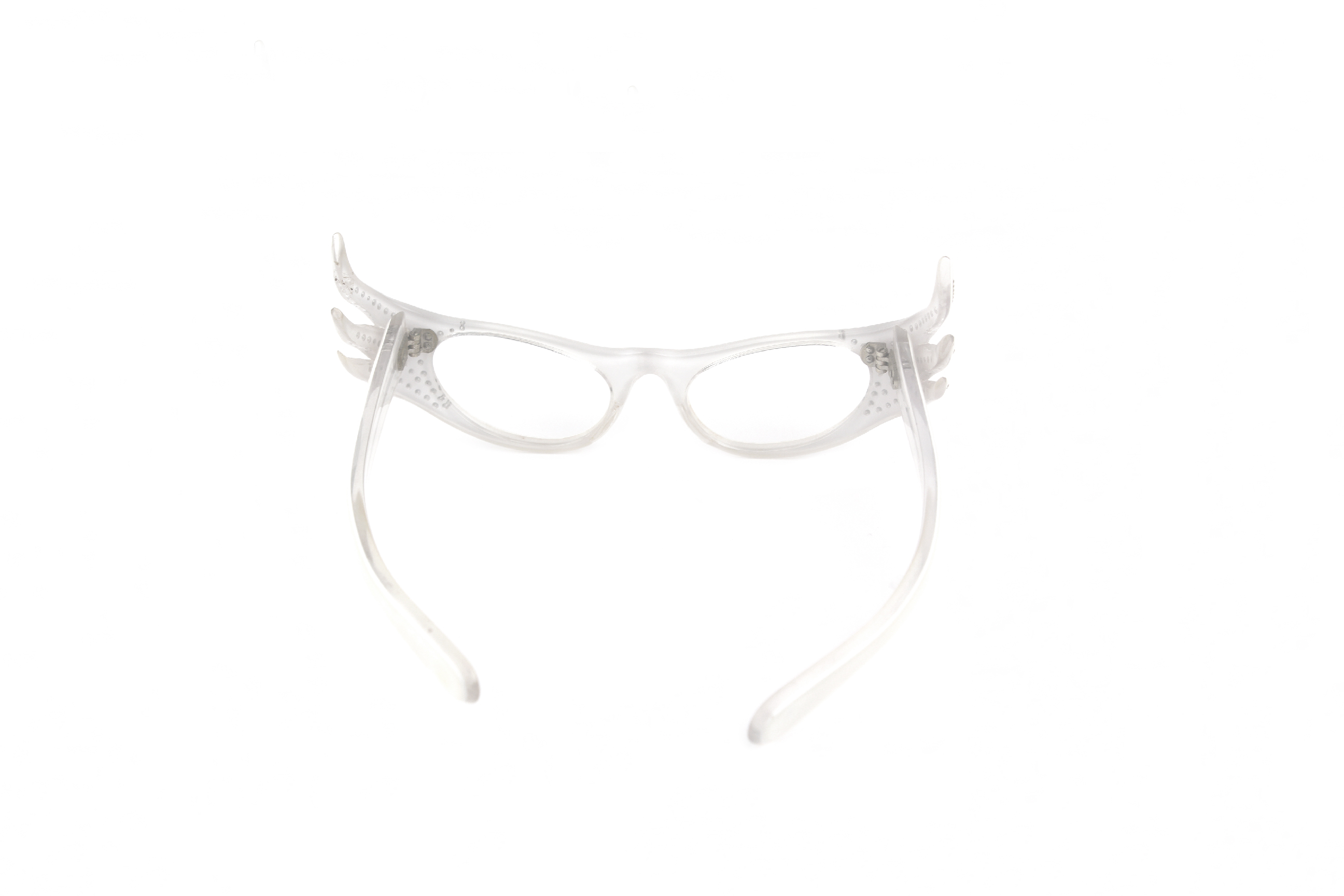Vintage Pearl White Cat Eye Iridescent Stones Eyeglass Frames ...